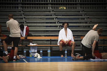 FC Bayern Basketball at the training camp photographed by Christian Kaufmann